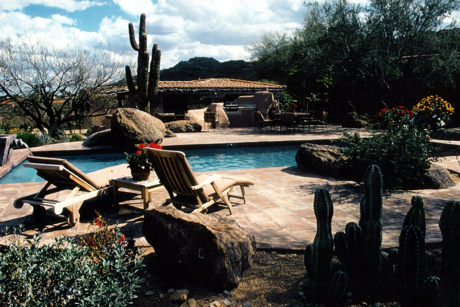 Lounging Poolside in the Desert