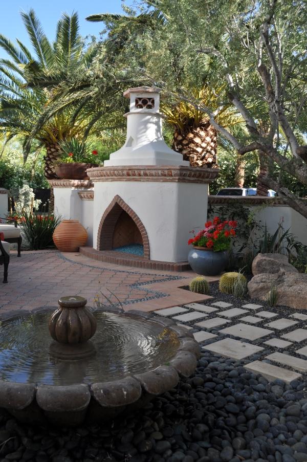 Moorish-Style Fireplace