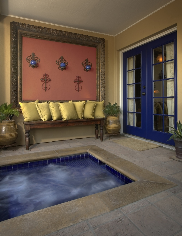 Colorful Spa Seating Area
