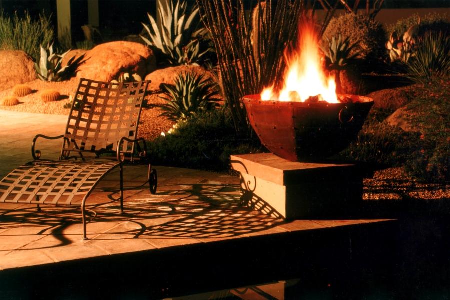 Poolside Fire Bowl
